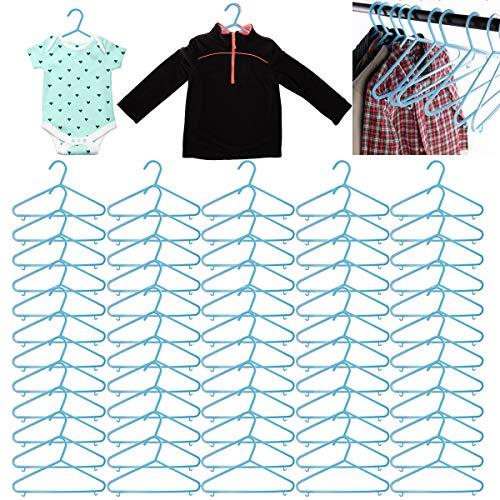 Delta Children 60 Pack Baby Hangers Kids Hangers Clothes Hangers Space Saving Plastic Hangers Heavy Duty Hangers for Closet Bulk