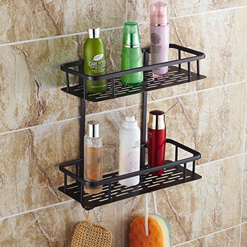 All copper antique basket QuartetBlack storage basket Storage basketBathroom and Toilet storage Shelves-B
