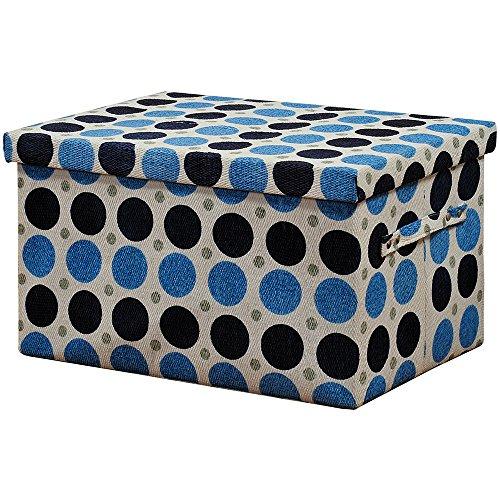 Kesper 19210 BlueWhiteBlack Storage Basket of Textile