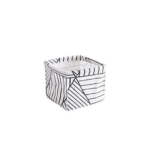 Storage Basket Foldable Storage Bin Closet Toy Box Container Organizer Fabric Basket Home Desktop Storage Basket BagsBlack