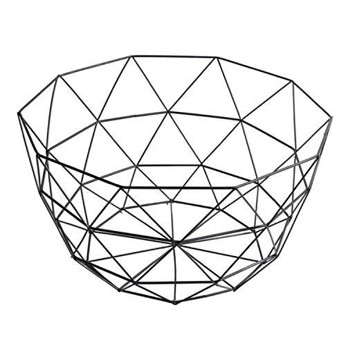 Storage basket Creative Snacks Candy Basket Desktop Bedroom Kitchen Fruit Basket Decor European iron Hollow Black Storage BasketB2