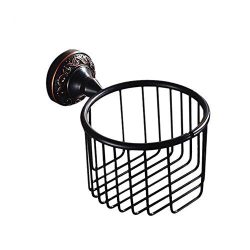 YanCui European antique copper black storage baskets of rolls of paper bellow