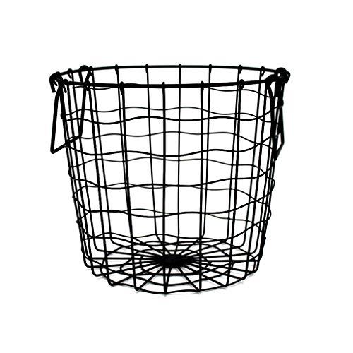 ZfgG Wrought Iron Desktop Storage Basket Black Storage Basket Mesh Hamper Laundry Basket Home Storage