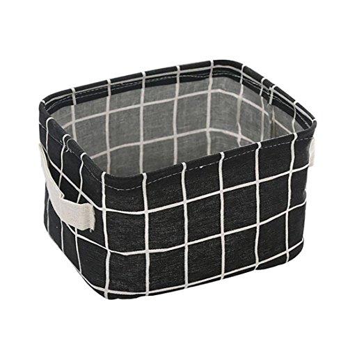 haoricu Storage Basket 2018 Foldable Storage Bin Fabric Basket Closet Toy Boxs Container Home Bedroom Organizer Black