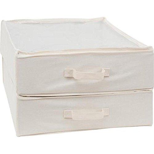 Mainstays 2pk Canvas Underbed Bag