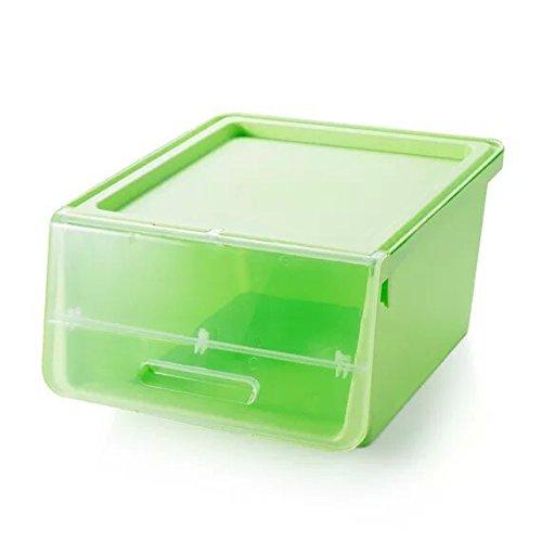 CLG-FLY New open front closet clothing storage box plastic storage box moisture baina box lockersGreen