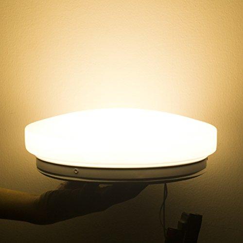 S&G 15W flush mount LED lights for home Valued LED garage lighting kitchen ceiling light fixtures 3000KWarm White 1200LM 13IN 150W Incandescent 45W CFL Equivalent