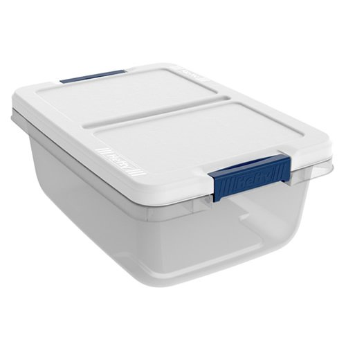 15 Quart Hefty White Storage Bin - 1679 L x 12 W x 66 H 1 Bin