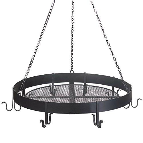 Round Black Iron Hanging Pot Rack