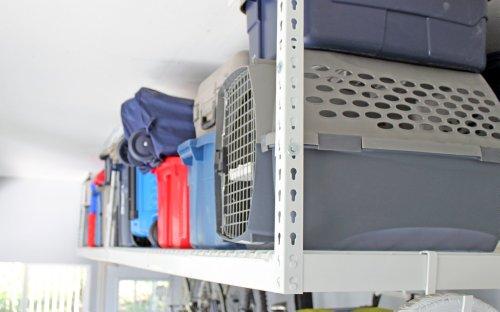 SafeRacks - 4x8 Overhead Garage Storage Rack Heavy Duty 18-33 Ceiling Drop