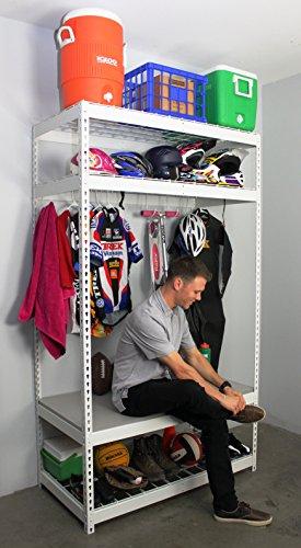 SafeRacks Sports Equipment Storage Rack Shelving 2D x 4W x 7H 4-Shelves