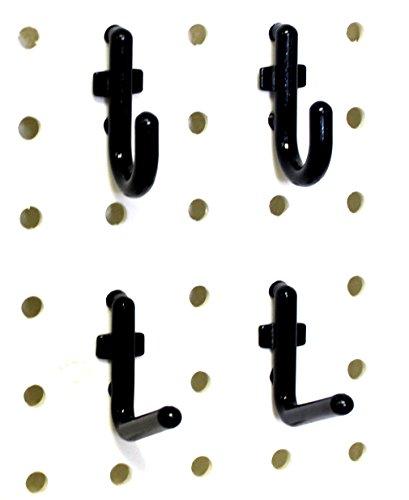 Wall Peg Hook Kit - 100 Pegboard Hooks Tool Storage Garage Organizer Choice BW 50 Black