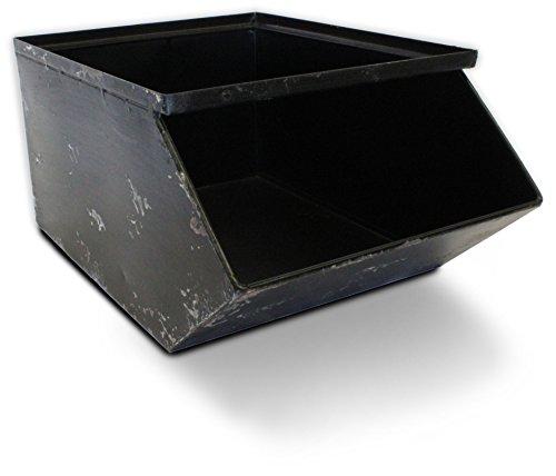Metal Stackable Storage Bin - ONE bin Industrial Drawer Storage Stacking by Urban Legacy … Black
