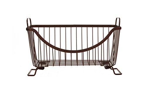 Spectrum Diversified Ashley Stackable Storage Basket Large Bronze