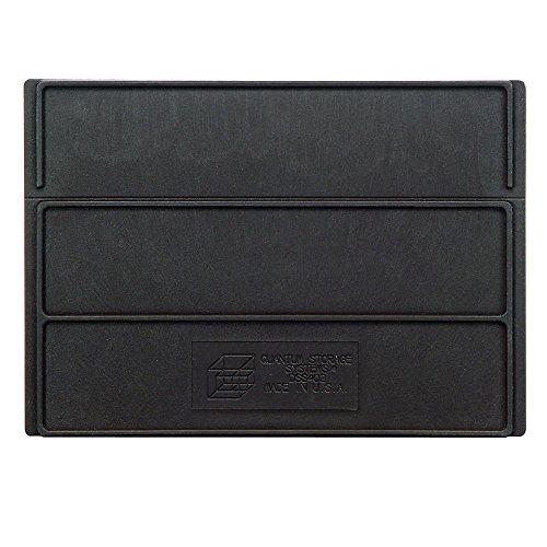 Dividers For Quantum Stackable Shelf Bins - Fits 8-14W Bins - Carton Of 6 - Black