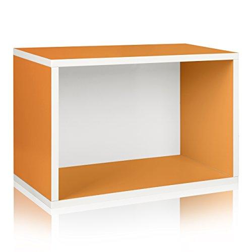 Way Basics Eco Stackable Large Rectangle Shelf and Storage Organizer Orange