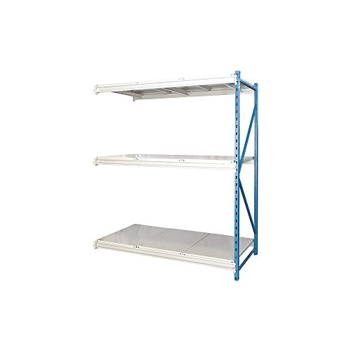 Hallowell - HBR603687-3A-S-PB - Bulk Storage Rack Add-On Unit 87 Height 60 Width 10 500 lb Load Capacity Number of Shelves 3