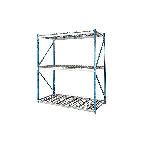 Hallowell - HBR7224123-3S-WW-PB - 72 x 24 x 123 Steel Bulk Storage Rack Starter Unit Navy Blue Light Gray Number of Shelves 3