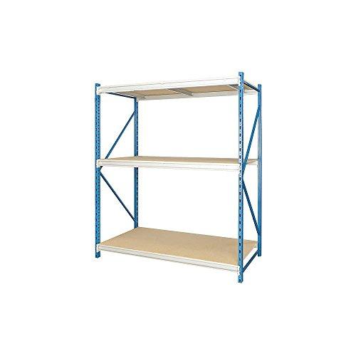 Hallowell - HBR9648123-3S-P-PB - 96 x 48 x 123 Steel Bulk Storage Rack Starter Unit Navy Blue Light Gray Number of Shelves 3