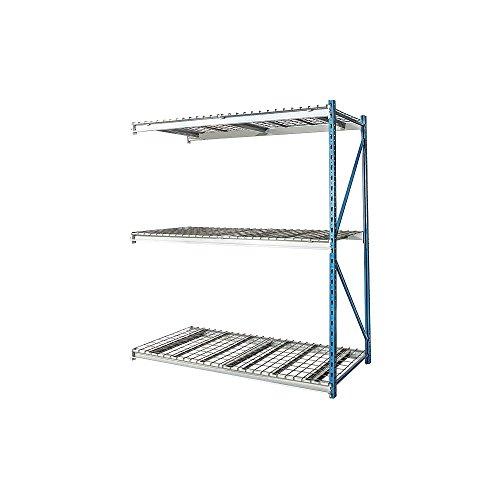 Hallowell - HBR964887-3A-WW-PB - 96 x 48 x 87 Steel Bulk Storage Rack Add-On Unit Navy Blue Light Gray Number of Shelves 3
