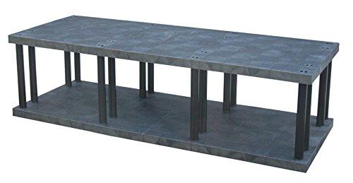 Structural Plastics - ST9636B - 96 x 36 x 27 Molded HDPE Plastic Bulk Storage Rack Black Number of Shelves 2