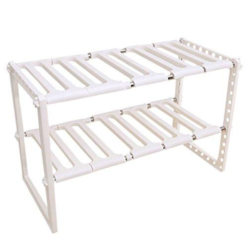 Hengfey Stainless Steel Storage Rack Shelves Adjustable Organization Rack for Kitchen Bedroom
