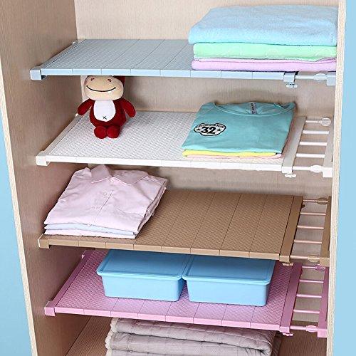 VANCORE Adjustable Storage Rack Separator Wardrobe Cupboard Shelf