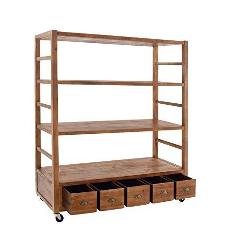Deco 79 48624 Wood Rolling Shelf