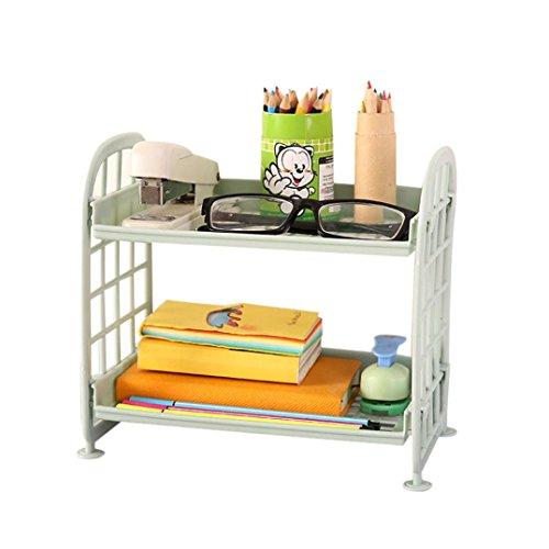 Sacow Storage Rack Double Layer Hollow Plastic Shelves Cosmetic Storage Shelf Kitchen Bathroom Organizer Plate B