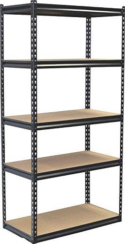 Jaken Co SCB1505W 5 Shelf Storage Unit 18 x 36 x 72