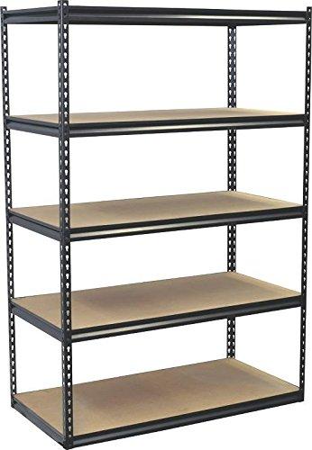 Jaken Co SCB2505W 5 Shelf Storage Unit 24 x 48 x 72