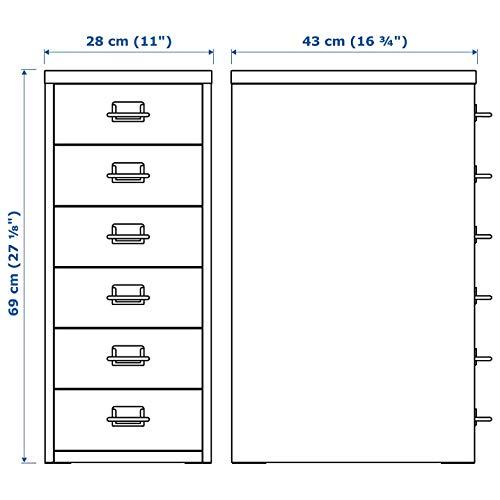 Ikea HELMER drawer unit 11x27 18 White