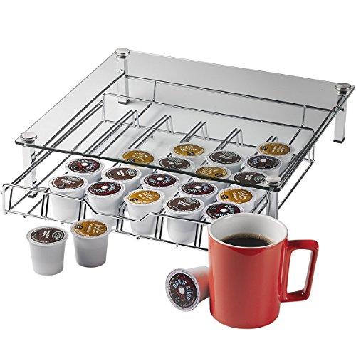 Home-it Glass k cup holder k cup storage Holder Holds up 36 k cups metal Drawer for Keurig K-cup Coffee Pod Holder Keurig K Cup Holders