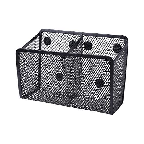 Metal Wire Mesh Magnetic Basket Storage Box Blackboard Chalk Pen Pencil Makeup