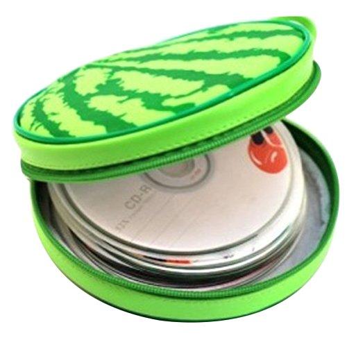 Topbeu Portable 24-disc CD Storage Case Bag CD DVD Carrying Case CD Holder Storage Box Watermelon