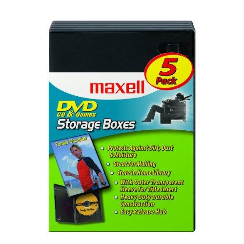 Maxell DVD-JC5 DVD Storage Boxes 5 Pack