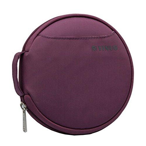 Video Media OrganizeCase CDDVD Storage Boxes CD Wallet Holder Roundness Purple
