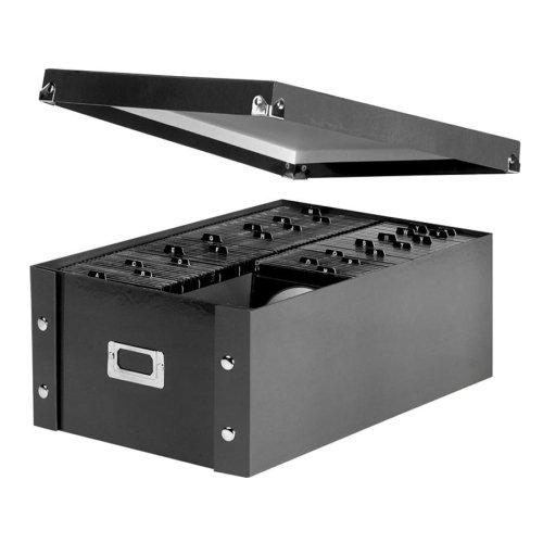 Wholesale CASE of 15 - Ideastream CDDVD Storage Box-Storage Box CD10-14x13-34x660 CDsLeather LikeBlack