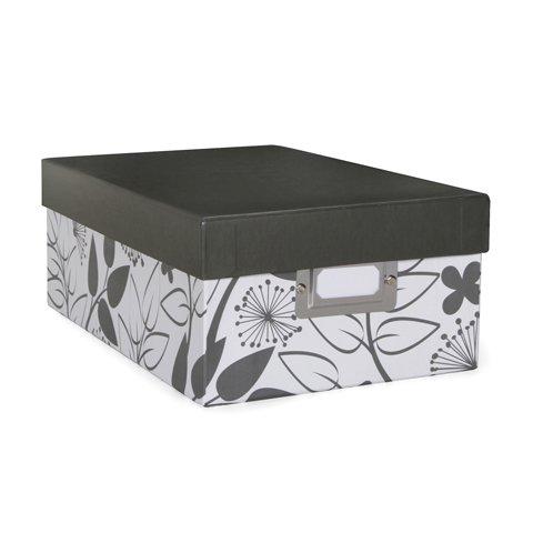 Photo Storage Box - Floral Print - 75 x 4 x 11 inches