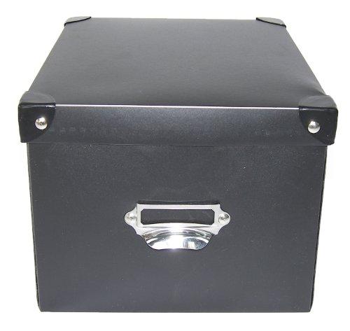 Scrapbook Storage Solutions 1533ASST6 Medium Photo Box - assorted colors black  pink  green