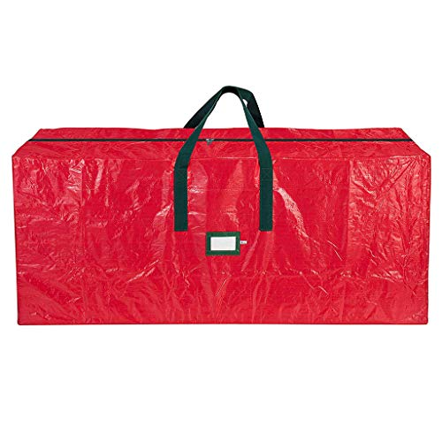Christmas Tree Storage Bag fits 9 FT Holiday Artificial dissembled Tree Waterproof Carry Bag for Christmas Tree with Durable Reinforced Handles Dual Zipper Red