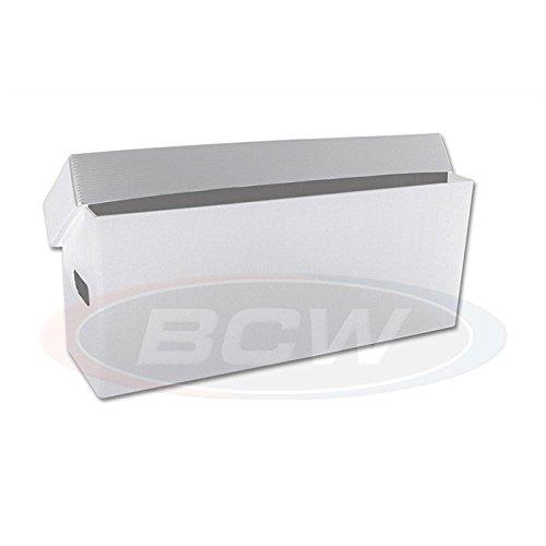 10 Long Plastic Comic Book Storage Boxes - WHITE