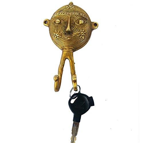 Decorative key hook holder made of brass by Aakrati