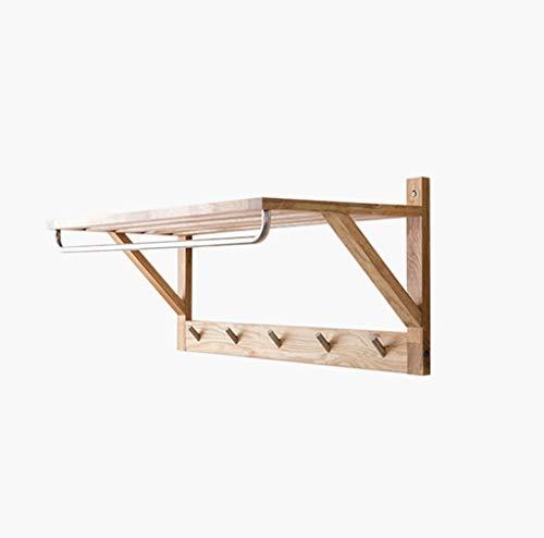 YUHAO Modern Minimalist Wood Ddoor Hangers Multi-Purpose Wooden Clothes Hook Curved Rod Coat Rack 78×34×32cm,Modern Art Color  3