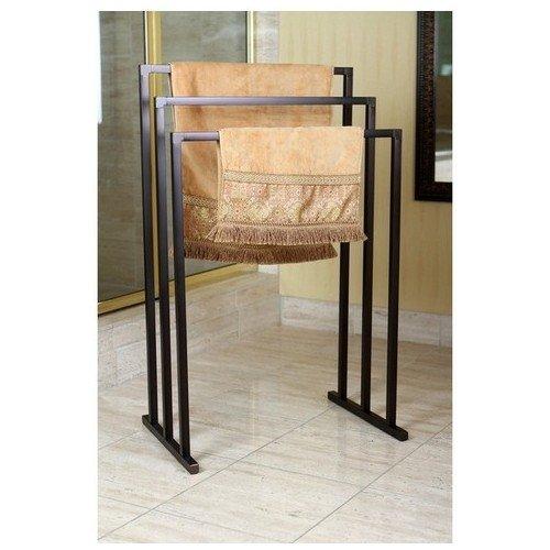 Pedestal Oil Rubbed Bronze 3-tier Iron Towel Rack