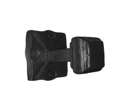 Adobe Wrought Iron Handmade Hook Short Black Iron Finish