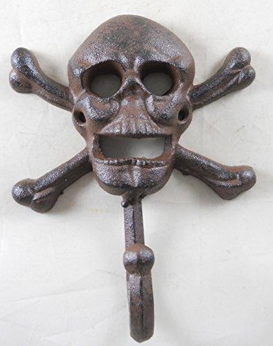 Cast Iron Skull Cross Bone Single Wall Hook