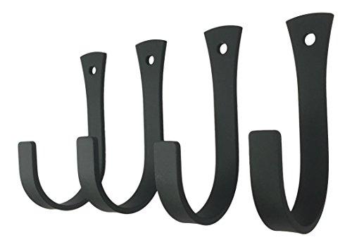 Set of 4 Wrought Iron Coat or Towel Hooks