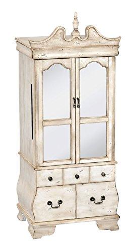 Acme Furniture 97204 Otis Jewelry Armoire Antique White