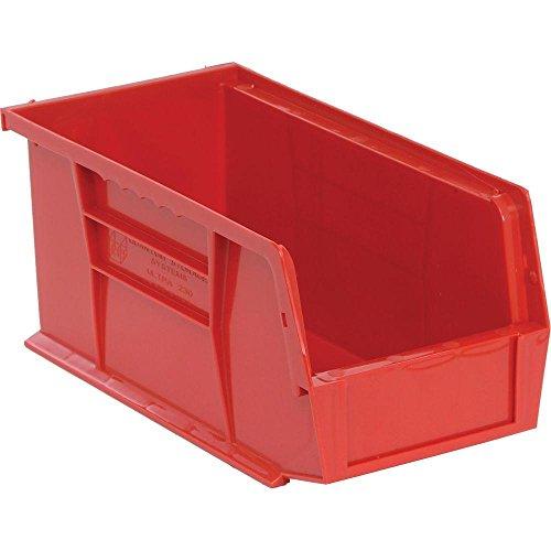 Edsal 13 Gal Stackable Plastic Storage Bin in Red  12-Pack